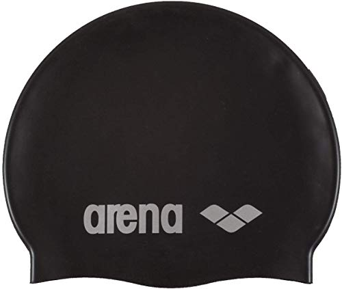 Arena Classic Gorro de Natación, Unisex Adulto, Negro Black/Silver, Talla Única
