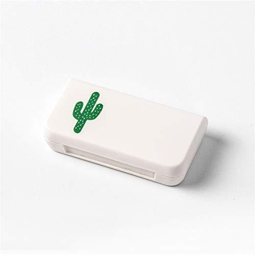 lymty Pille Fall, DREI Plaidfächer Pill Organizer Box, wöchentliche kompakte Erinnerung mit Deckeln für Medizin Vitamine OTC Tablet Schmuck, Reise-Pille-Planer, kleine Tasche -