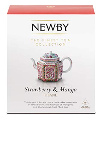 Newby Teas Silken Pyramids Strawberry and Mango Tea 38 g (Pack of 1, Total 15)