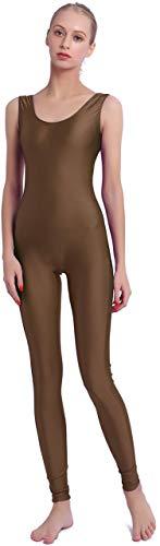 Speerise Damen Lycra Spandex Nylon Tank-tanzanzug Bodysuit Medium braun -