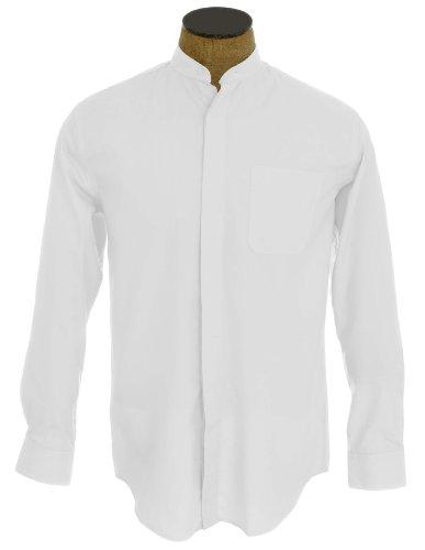 Kragenloses Herrenhemd Elfenbein - Elfenbein