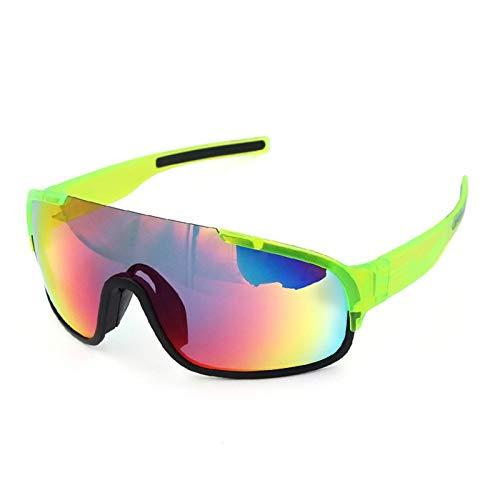 Gnzoe TPU+PC Halber Rahmen Sportbrille Outdoor Schutz Polarisierte Sonnenbrille Fahrradbrille...
