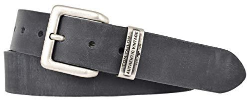 TOM TAILOR Herren Gürtel Herrengürtel Leder Gürtel Ledergürtel 40 mm schwarz, Länge:110