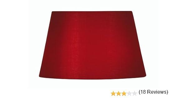 Oaks Lighting Abat-jour imitation coton 40 cm Rouge
