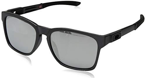 Oakley Herren Sonnenbrille Catalyst Silber (Steel/Chromeiridium), 56