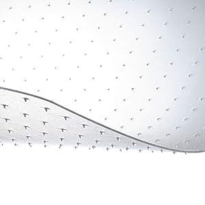 etm® Bodenschutzmatte - 120x75cm   TÜV und Blauer Engel   transparent, mit Ankernoppen für Teppichböden