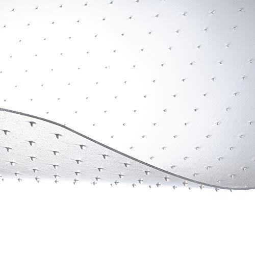 etm® Bodenschutzmatte - 120x130cm | TÜV und Blauer Engel | transparent, mit Ankernoppen für Teppichböden