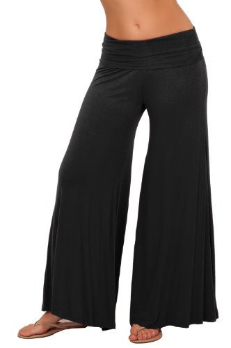 Lange Gaucho Boho Flare Elephant Wide Leg Chic Sophisticated Lässige Sassy Pants (Jeans Wide Leg Flare)