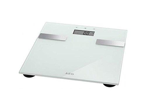 AEG non floorcare PW 5644 FA - Báscula de análisis corporal de 7 funciones, de cristal y acero inoxidable, color blanco