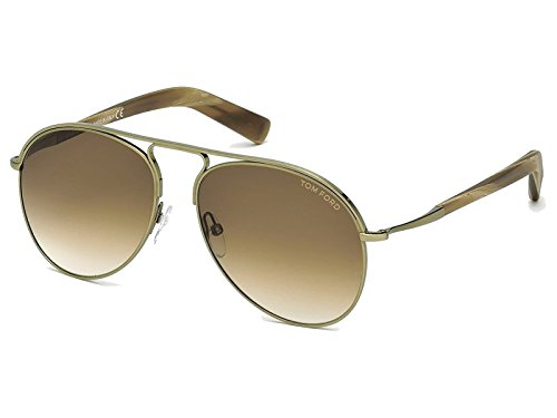 Tom Ford FT0448 C56 33F (gold/other / gradient brown) Sonnenbrillen