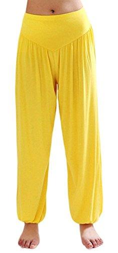 Pantalón de yoga amarillo para mujer