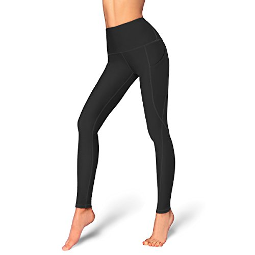 Occffy High Waist Out Pocket Yoga Pants Womens Tummy Control Workout Leggings