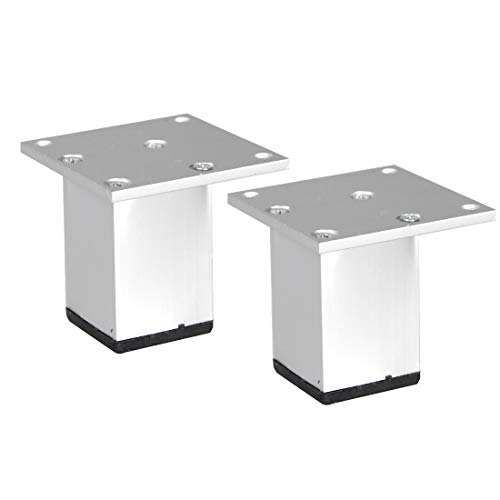 sourcing map 2stk. Möbel Beine Aluminiumlegierung Tischfüße Ersatz Höhenversteller 2.4