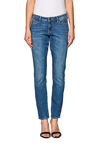 edc by ESPRIT Damen 998CC1B828 Slim Jeans, Blau (Blue Light Wash 903), W28/L30 (Herstellergröße: 28/30)