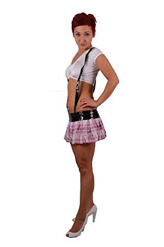 Heißes Outfit im Schulmädchen Look * High School Tease * Minikleid Kleid Rock 34 - 36, Kleidergr. Damen:S ()