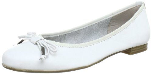 Marco Tozzi 2-2-22128-20, Damen Ballerinas, Weiß (WHITE 100), EU 40