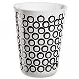 ASA Selection Coppetta Becher Cappuccino, Kaffeetasse, Tasse, Keramik, Circles, Schwarz / Weiß, 250 ml, 44048214