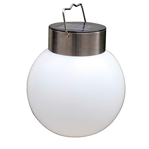 SYN Lámpara Solar de Acero Inoxidable con Forma de Bola para Exteriores, Resistente al Agua, Ideal para Colgar en el Camino, para Patio, jardín