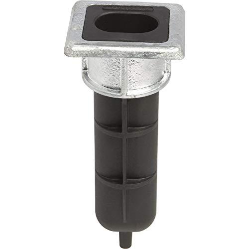 Locinox EGS Bodenanschlag für Stangenriegel VSF, 70 x 65 x 6 mm, Höhe 166,5 mm Schwarz/Feuerverzinkt 65x70x166,5 - Zaun Tor Für Riegel
