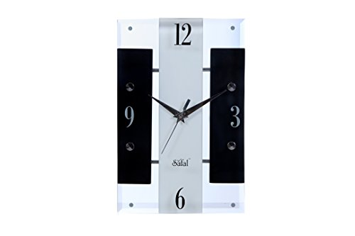 Safal Vertical Black And White Beauty Wooden Wall Clock