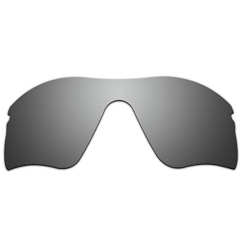 ACOMPATIBLE Ersatz-Brillengläser für Oakley Radar, Titanium Mirror - Polarized, S