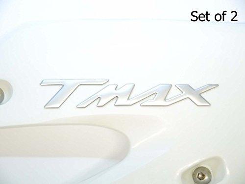 160x22mm cromo satinado T MAX MOTO EMBLEMA INSIGNIA MOTO depósito de gasolina Gráficos ADHESIVOS YAMAHA TMAX