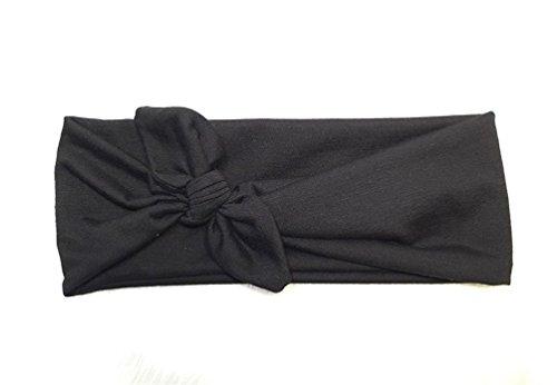 Toruiwa 1X Cinta de Pelo Venda elástico Cintas para el Pelo Accesorios del Pelo Diadema de Lazo Negro Diadema para Mujer 20.8 * 9 * 2.2 cm