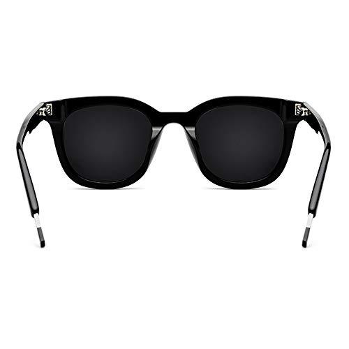 AmzGxp Platte Fahren Brille Männlich Polarisierte Sonnenbrille Weiblich Quadratisch Schwarz Großen Rahmen Grau Objektiv UV400 Schutz Attraktiv