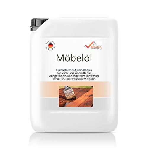 BEKATEQ BE-201 Möbelöl 100{9501fbf21058f6e805e42d3305be42767d32b667727022a556a54dd1eec8811f} Naturöl Arbeitsplattenöl Holzmöbel Öl Bio Holzöl Parkett ölen Terrassenöl (5L)