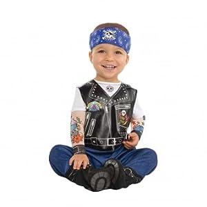 Amscan Dress Up 9900882 - Disfraz de Motero para bebé, Color no sólido, 12 - 24 Meses