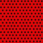 Quattroerre 10004- Rollo de tiras adhesivas, rojo, 10m x 3mm