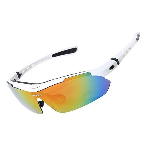 KnSam Sportbrille Retrosportbrille Retrosportbrille Retrosportbrille Retrosportbrille Retro Weiß Schutzbrille