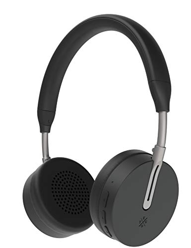 Kygo A6/500 Wireless Bluetooth 4.1 On Ear Headphones, aptX® and AAC® Codecs, Built-in Microphone, NFC Pairing, Memory Foam Ear Cushions, 18 hours Playback, Kygo Sound App - Black Best Price and Cheapest