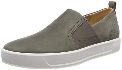ECCO Herren Soft 8 Slip On Sneaker, Grau (Dark Clay 2559), 42 EU -