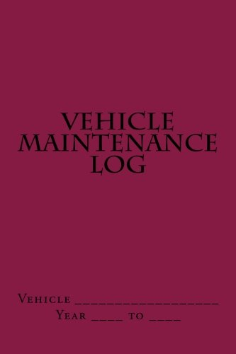 vehicle-maintenance-log-maroon-cover
