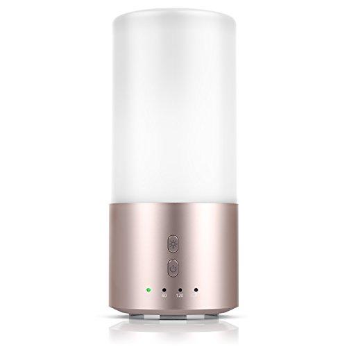Kerze Duftenden Duft-Öl (Arendo - Aroma Diffuser / LED Duftlampe mit Farbwechsel / Duftöldiffuser | Duftlampe mit Ultraschall Technologie | Farbwechsel LEDs |energieeffizient | Aluminium Gehäuse)