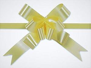 SHATCHI 30 mm/3 cm lazo grande para pared de fiesta, envoltorios de regalo, árboles de Navidad, boda, cestas de cumpleaños decoración floristería 30 unidades, amarillo claro