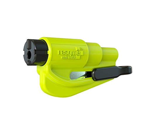 Resqme GBO-RQM-YELLOWFLUO Das Rettungswerkzeug als Schlüsselanhänger, Gelb (Safety Yellow), 1er-Set
