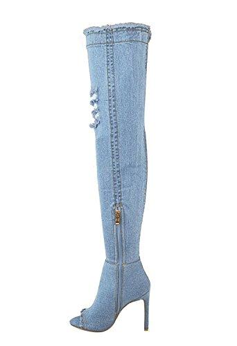 6581f3385f Minetom Mujer Otoño Invierno Moda Boots Tramo Sobre La Rodilla Peep Toe.