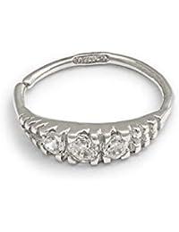 Mia Gioielli - Piercing Nez Oreille Anneau Or 750/1000 (18 carats) pour Femmes Filles, hypoallergenique 8x0.7mm