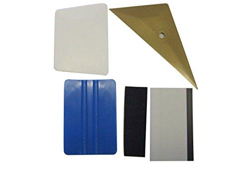 Preisvergleich Produktbild Profi Rakel-Set Easy Tint 5-teilig (3M Rakel,  Klebefilz,  Abzieher,  Teflonrakel,  Easy Reach) zum perfekten Scheiben Tönen