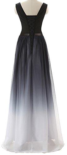 Eudolah Damen Abendkleider Partykleider Geburtstagkleider Prom Kleid Tr?gerlos strapless Schwarz-V