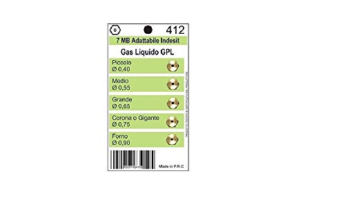 Casaricambi - UGELLI Universali per gas Liquido/GPL passo 7MB Indesit 0,40 0,55 0,65 0,75 0,90