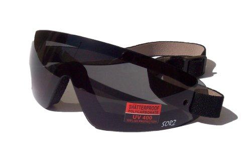Lanes Eyewear USA sorz Schutzbrille für Skydiving Freefall Fallschirmspringer, beschlagfrei, bruchsicher, getönte Gläser
