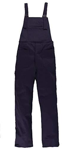 Salopette da Lavoro Blu in Cotone Uomo Donna - Pantalone Pettorina (44)