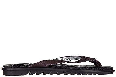 Armani Collezioni / Jeans Herren Leder Flip Flops Zehentrenner Sandalen bordeaux EU 43 935105 7P456