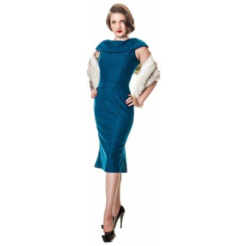 Collectif Kleid OPHELIA WIGGLE DRESS blue Blue