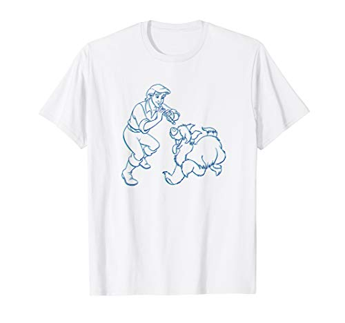 Disney The Little Mermaid Prince Eric and Max T-Shirt T-Shirt (Eric Kinder T-shirt)