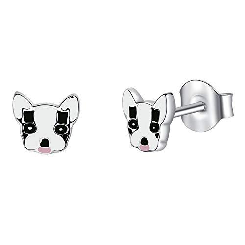 Cblxn orecchini orecchini in argento sterling 925 modelli femminili neri animali orecchini moda gioielli modelli femminili