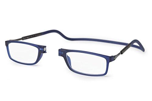 Neu Slastik Magnetisch Clic Stil Lesebrille Rahmen Doku 008 mit weichem Behälter, Verstellbare Bügel & Antireflektierende Brillengläser Dtr +3.5